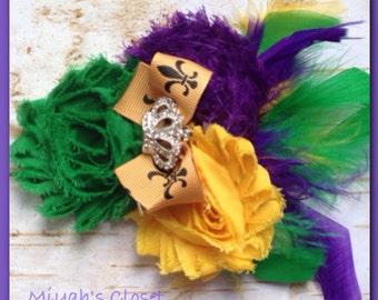 Mardi Gras Hair Clip Mardi Gras Headband Mardi Gras Crown Clip Mardi Gras Adult Headband Mardi Gras Child Headband New Orleans Parade