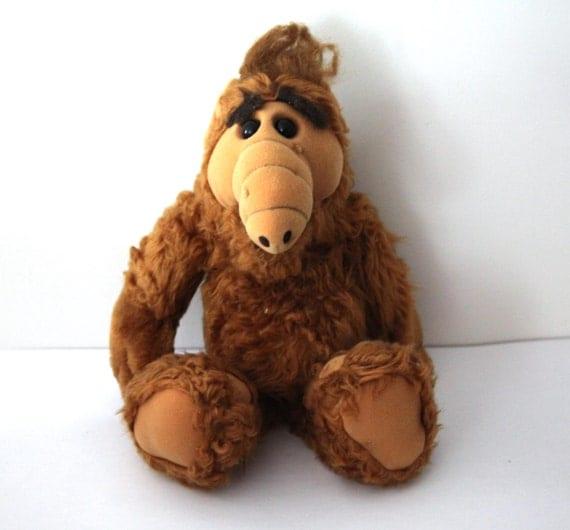 Vintage 80s ALF Plush Doll Stuffed Animal 1986