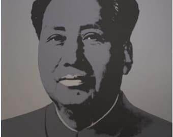 """Andy Warhol """"Mao 4"""" -  Sunday B. Morning - After - Screenprint - COA - See Live at GallArt"""