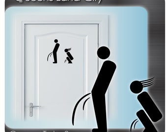 Creative Funny Bathroom Toilet WC Business Pub Club Restaurant Door Sign Vinyl Sticker Decal A06