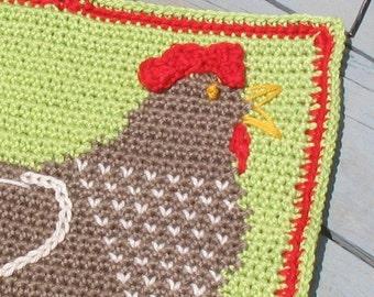 Henrietta Hen Potholder pattern - INSTANT DOWNLOAD