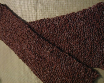 S-067  Brown Knitted Scarf