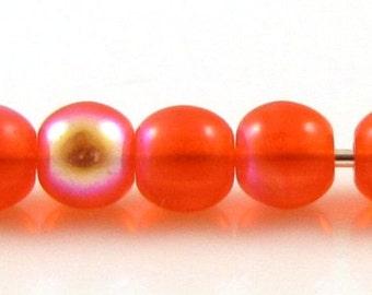 Bright Hyacinth AB 4mm  Round Czech Glass  Beads 100pc #1633