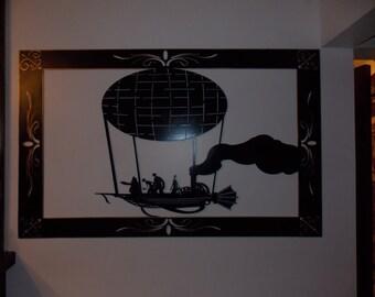 SteamPunk Metal Art AiR SHIP