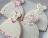 Gluten-free Decorated Cookie - Wedding Dress cookie Favor
