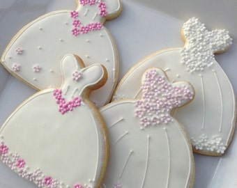 Decorated Cookie - Wedding Dress cookie Favor
