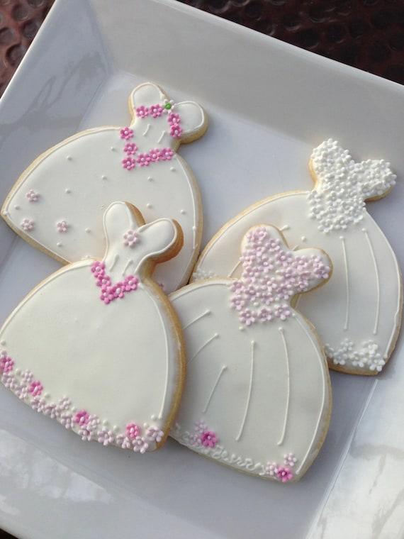 Decorated Cookie Wedding Dress cookie Favor