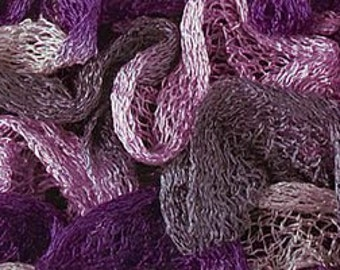 Katia Ondas Ruffle Scarf Yarn Color 95 Rose/Purple/Grey. Great Buy!!  Regular price is 12.00.