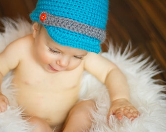Cute Baby blue Newsboy Hat