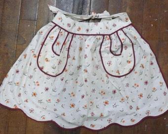 Cotton Floral Print Apron