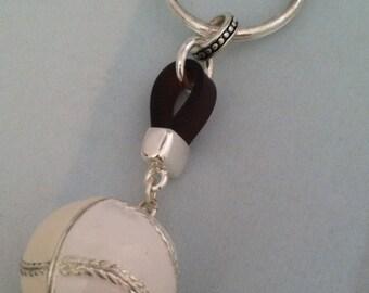 Batter Up! BASEBALL Keyring-Batter Up for MLB Enamel Baseball Charm Keyring