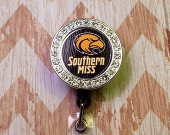 Southern Miss retractable badge reel