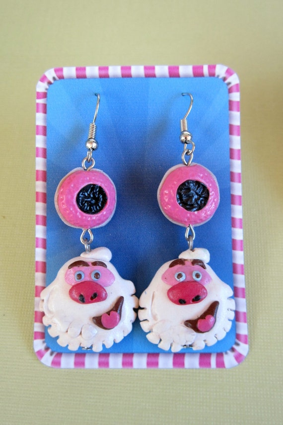 Candy Crush Saga Yeti Earrings - Free Shipping (USA)