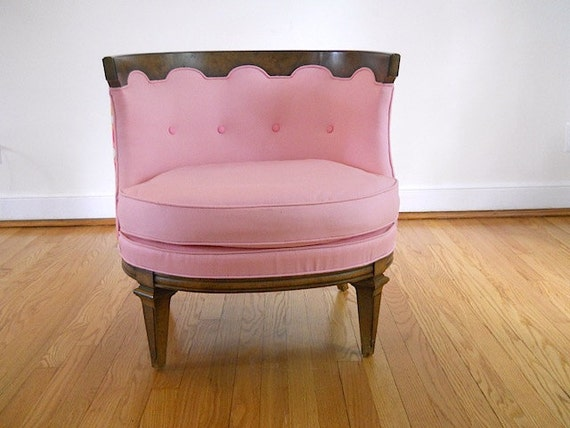 Sale   Mid Century Pink Chair  1960 s Occasional Chair  Designer Bedroom  Chair  Mid. Sale Mid Century Pink Chair 1960 s Occasional Chair