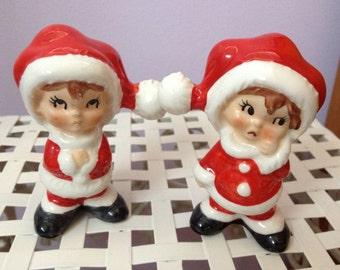 Vintage Christmas Santa's Helpers Figurines