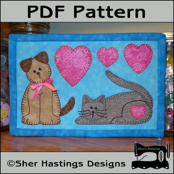 PDF Pattern For Cat & Dog Mug Rug Dog Mug Rug Pattern Cat