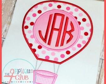 Monogram Hot Air Balloon Applique Shirt