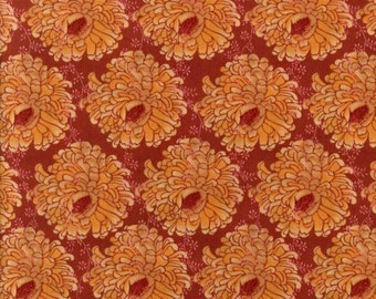 Tina Givens fabric TG22 Africa orange red ZaZu petals wreaths Free Spirit fabric 100% Cotton fabric by the yard sewing quilting