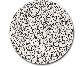 Because Cats Mouse Pad - Round or Rectangle