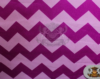 """100% Cotton Large Chevron Print Fabric LILAC PURPLE / 45"""" Wide / Sold by the yard"""