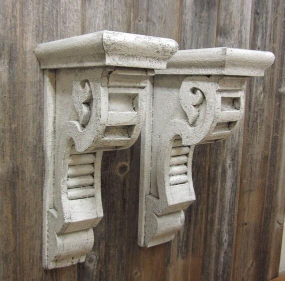 2 large vintage corbels shelf brackets mantle by twoawesum