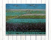 Landscape , field  (ORIGINAL PAINTING) oil painting free shipping