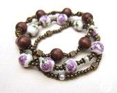 Violet Floral Bracelet Bunch