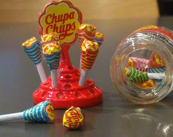 Colorful Cheerful Chupa Chup,Miniature Foods,magnet, tiny,decoration,lollipops