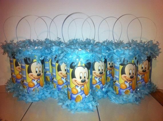 Baby Mickey Mouse 1er cumpleaños piñata Mini por KrystalsPinatas