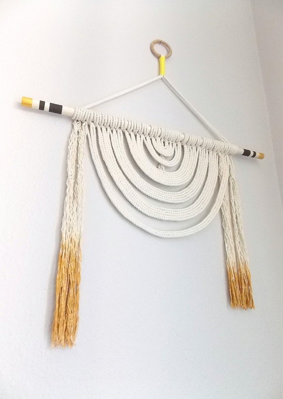Wall hanging energy flow no 5 by himo art one of for How to make a rope wall