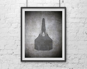 02-BSG Battlestar Galactica Viper Poster Print