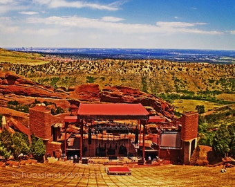 Red Rocks Amphitheater 8 x10 Fine art Photography Print, Denver, Colorado