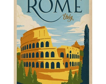 Rome Italy Flavian Colosseum Wall Decal #42242