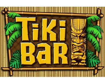 Tiki Bar Palms And Bamboo Wall Decal #41862 Part 82