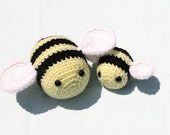 PATTERN ONLY Crocheted Amigurumi Stuffed Bee pdf pattern file, Crochet Stuffed Worker And Queen Bee patterns, Emmasanimalcreations,