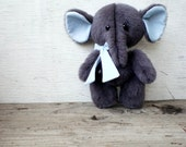 Artist Teddy Elephant Grey and Blue