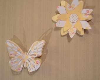 Flower or Butterfly shabby