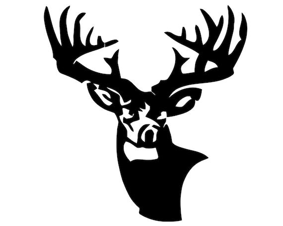 Deer Hunting Vinyl Decal Deer Hunter Sticker Deer Head