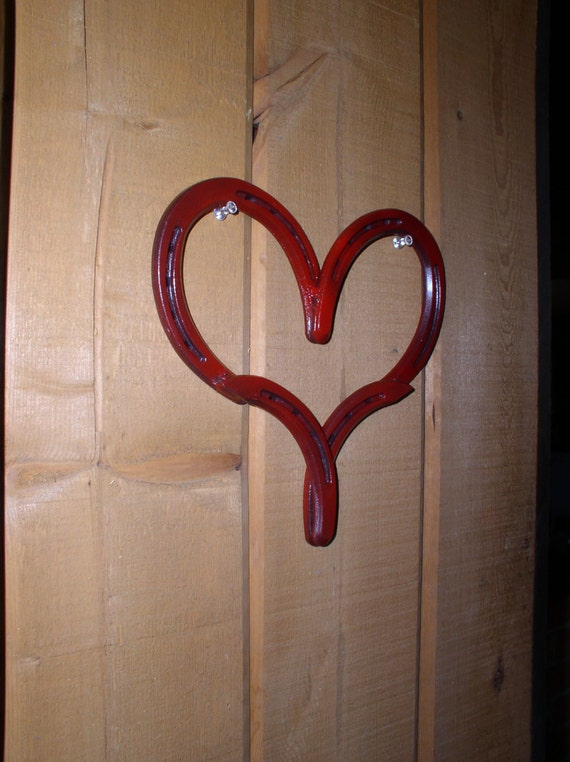 Horse Shoe Heart Country Western Home Decor By
