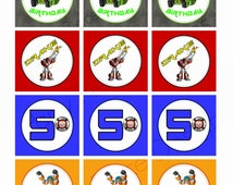 Rescue Bots Personalised Cupcake and Favor Toppers - Printable File