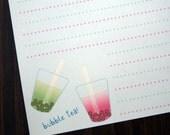 10 Sheet Stationery Set - Featuring Bubble Tea Original Art