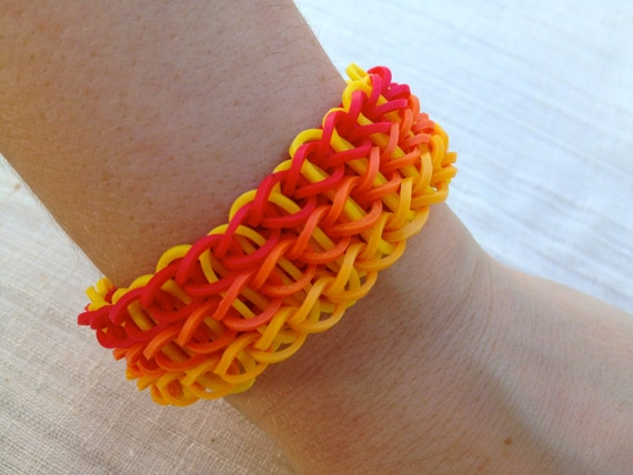 Items Similar To Rainbow Loom Bracelet Made From Rubber