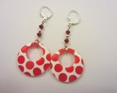 Red and White Polka Dots Earrings