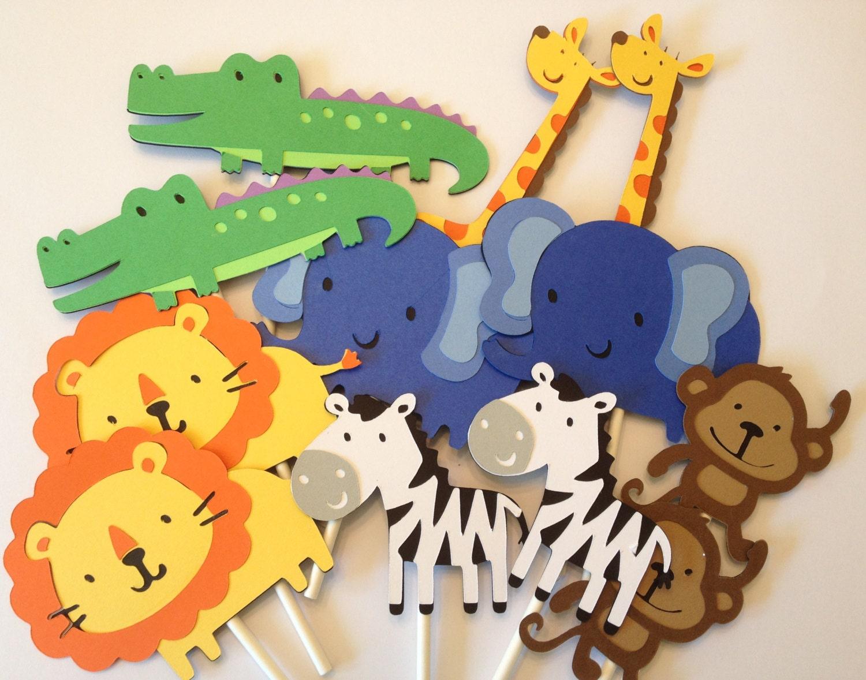 Jungle Theme Cupcake Toppers. kapoklife 28-Pack Cute Zoo ...