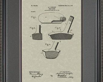 Golf Putter Patent Art Golfer Coach Gift K3534
