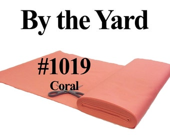 """45"""" Coral Broadcloth Fabric - By The Yard"""