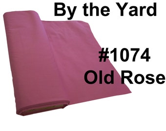 """45"""" Old Rose Broadcloth Fabric - By The Yard"""