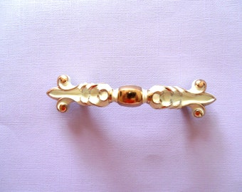 Vintage Fancy Gold and ivory Draw Pull
