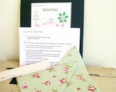Sew your own fabric Bunting gift pack. Make your own garland craft kit.