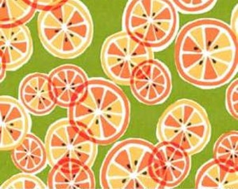 Fruit Fabric - Citrus Slice by Michael Miller Fabrics CX5494 CRMS D Creamsicle - 1/2 yard